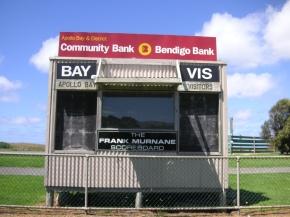 Apollo Bay scoreboard