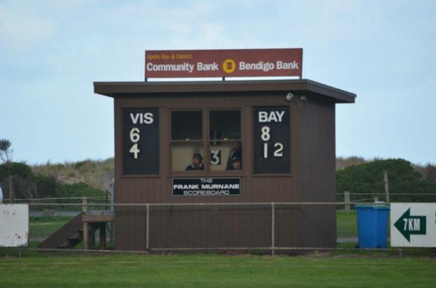 Scoreboard at Apollo Bay