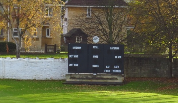 Bath Cricket Club scoreboard