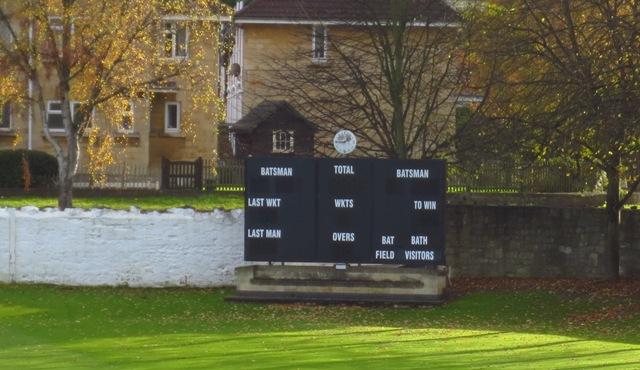 Bath Cricket Club scoreboard