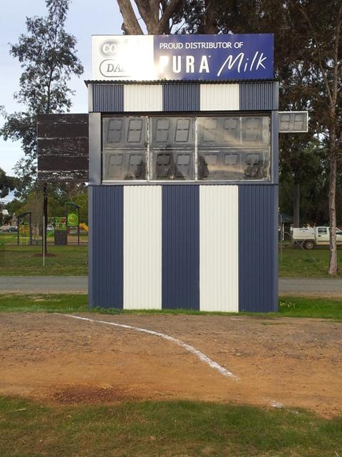 Electronic scoreboard at Mooroopna