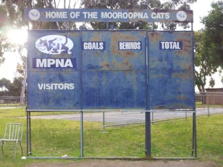 Mooroopna junior scoreboard