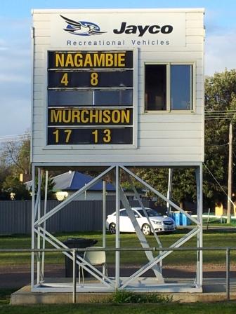 Nagambie new scoreboard