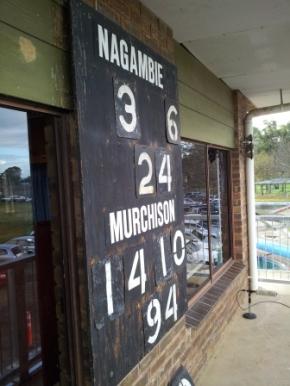 Old Nagambie scoreboard