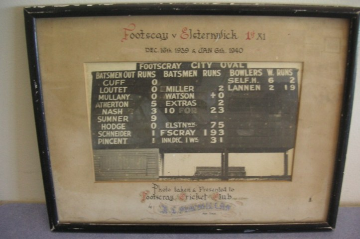 Old Footscray City Oval Scoreboard