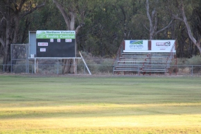 Moulamein scoreboard and grandstand