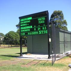 Harry Trott Oval electronic scoreboard