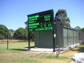 Harry Trott Oval electronic scoreboard