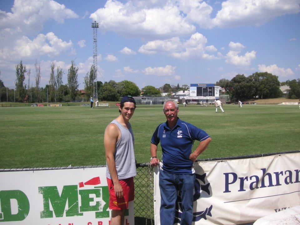 Kirk Raglus and his father John