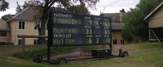 Melbourne University scoreboard