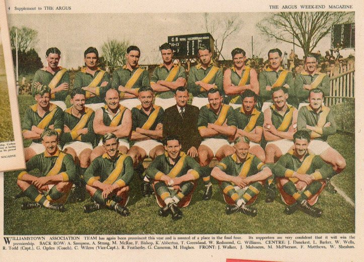 Williamstown team photo, The Argus 1949