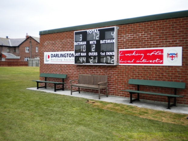 Whitby's new scoreboard