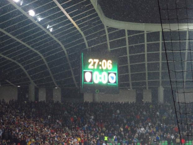 Stožice Stadium scoreboard