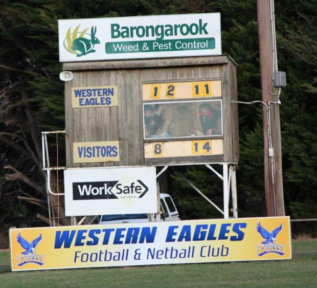 Scoreboard at Irrewillipe