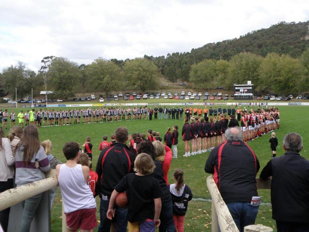 Anzac Day pre-match ceremony