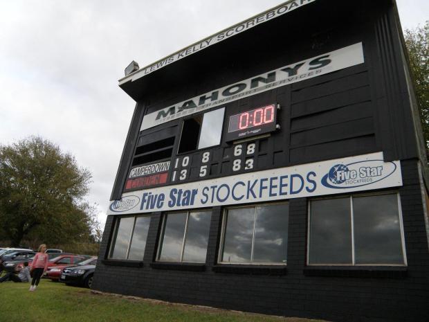 Camperdown scoreboard