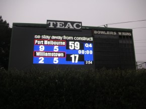 Port Melbourne scoreboard
