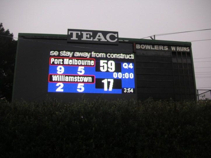 Port Melbourne scoreboard