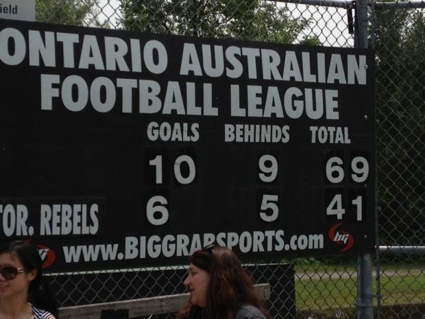 Ontario scoreboard