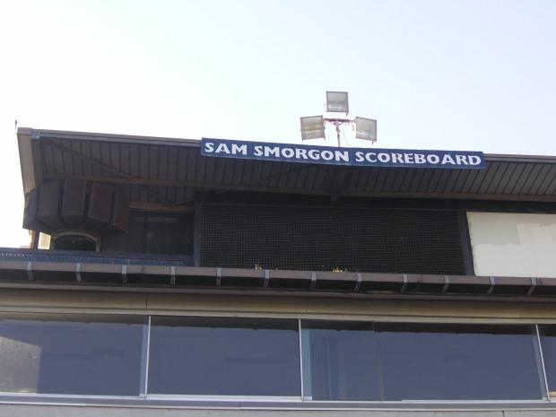 Sam Smorgon scorebaord