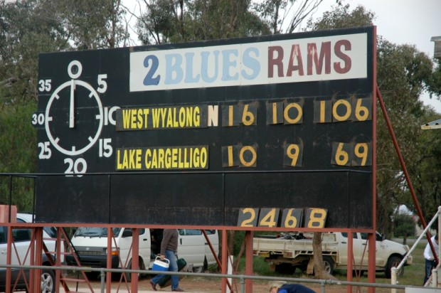 Barellan scoreboard