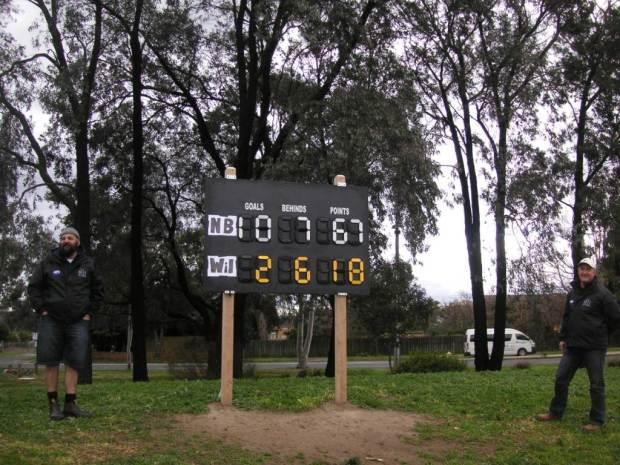 Central Reserve scoreboard