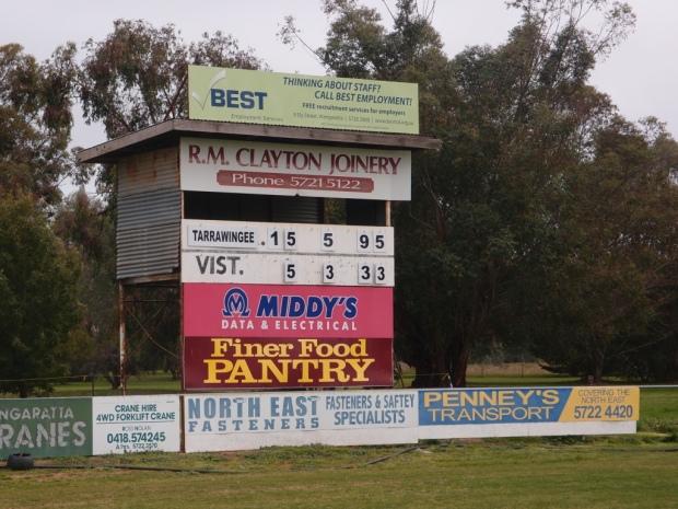 Tarrawingee scoreboard