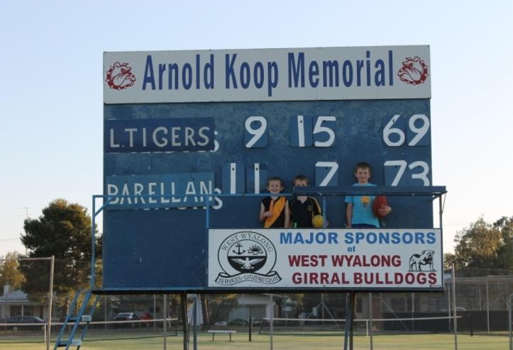 West Wyalong scoreboard