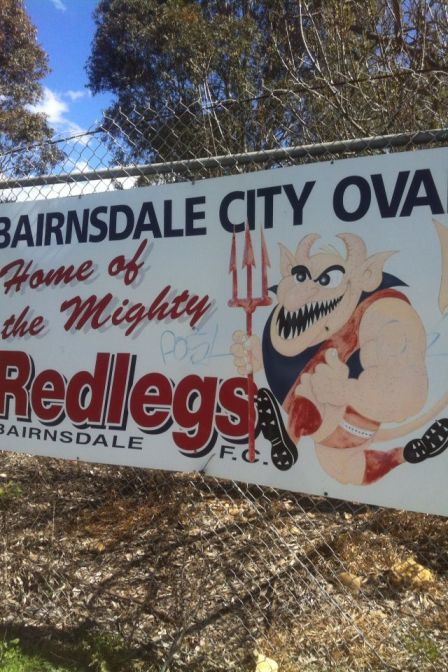 Bairnsdale City Oval sign