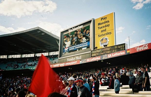 AAMI Stadium scoreboard 2003