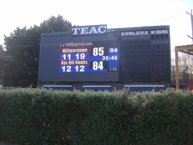 North Port scoreboard