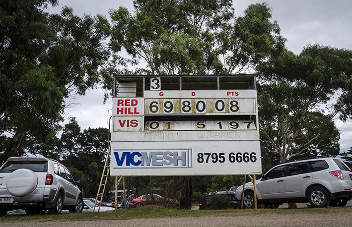 Red Hill scoreboard
