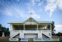 'The magnificent grandstand.'