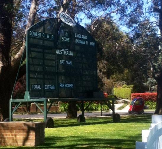 Bowral scoreboard