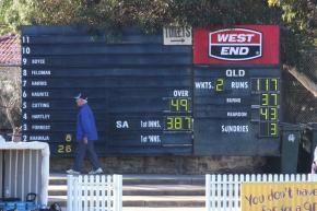 Glenelg cricket scoreboard