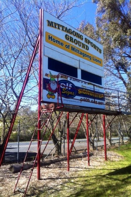 Mittagong scoreboard