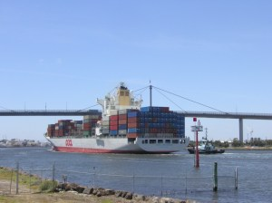 Big ship on Yarra