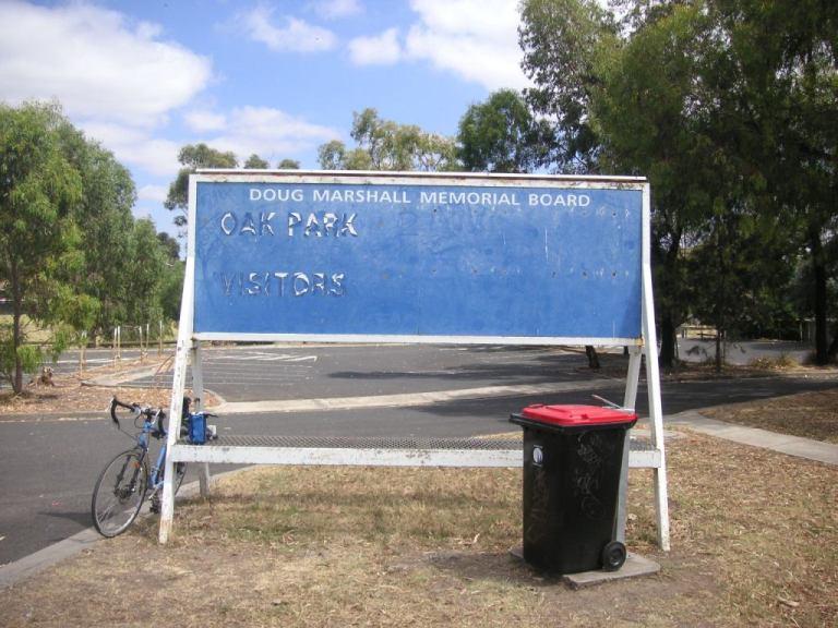 Oak PArk scoreboard