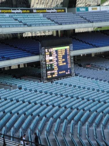 MCG temporary scoreboard