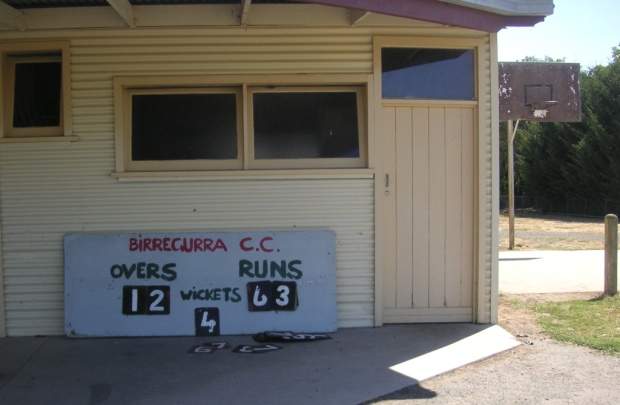 Birregurra cricket score