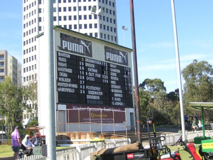 Junction Oval scoreboard