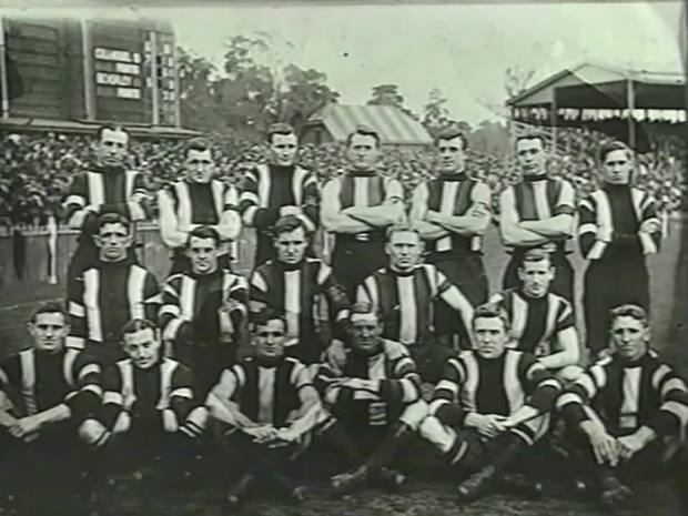 St Kilda team photo Grand Final day vs Fitzroy 1913. MCG
