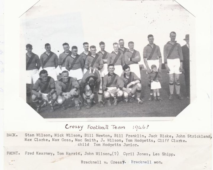 Photo sourced from Cressy Football Club Facebook page