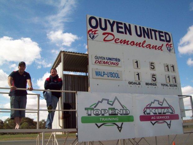 Outyen United scoreboard