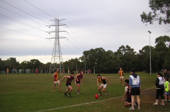 East Malvern (navy blue and red); Cheltenham (red, yellow and black).