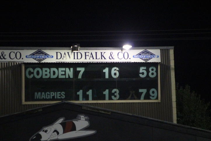 Cobden scoreboard