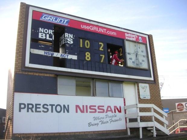 Preston scoreboard