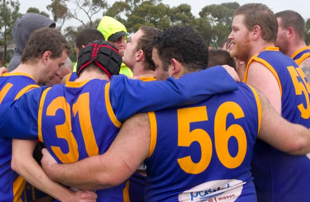 The Williamstown Seagulls keep focused at quarter-time.