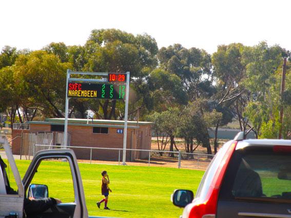 A new scoreboard at Southern Cross.