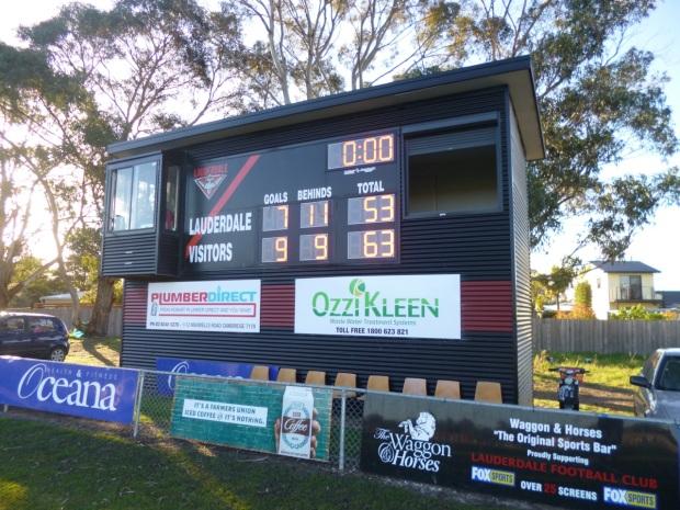 Lauderdale scoreboard